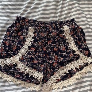 Charlotte Russe Floral Print Shorts